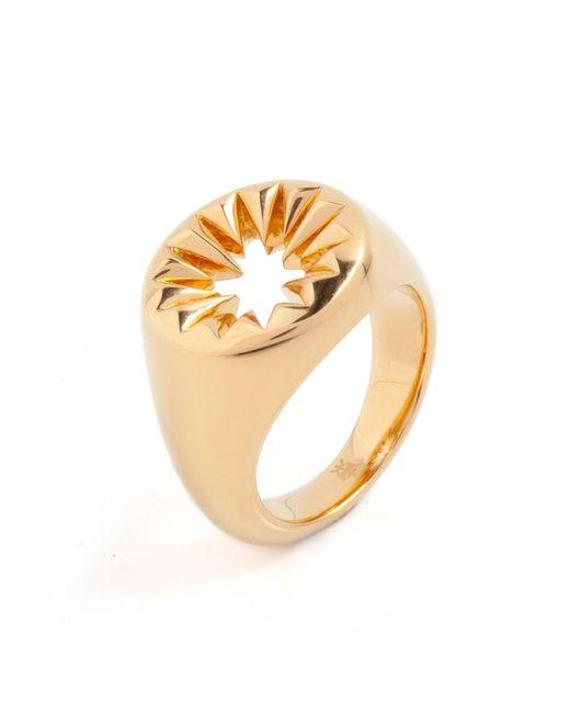 Kasun | Metallic Wild Crocodile Signet Ring Gold | Lyst