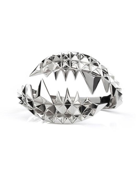Kasun | Metallic Fang Bangle Silver | Lyst