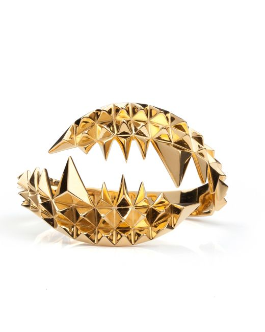 Kasun | Metallic Fang Bangle Gold | Lyst