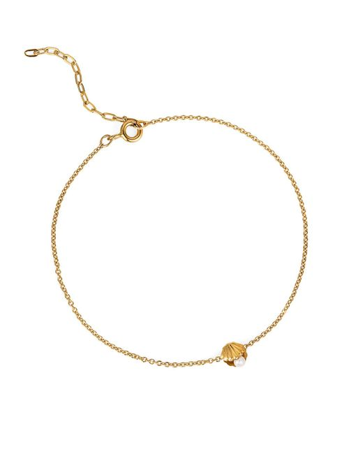 Lee Renee - Metallic Mini Shell & Pearl Bracelet Gold Vermeil - Lyst
