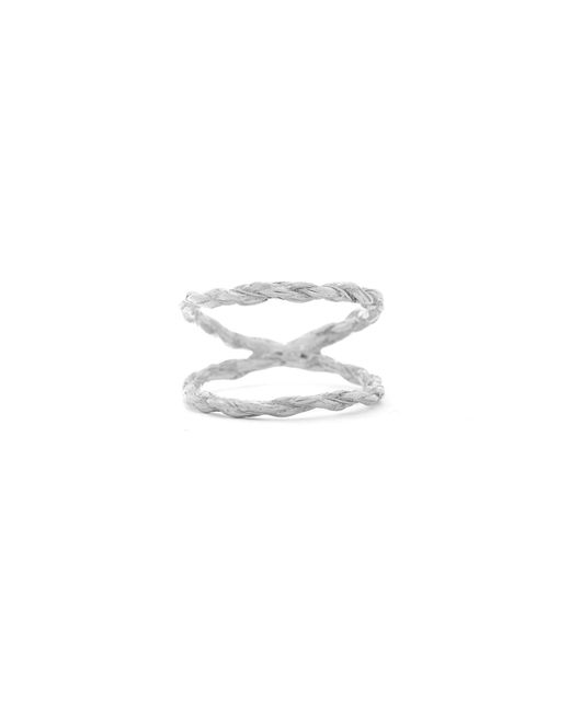 Chupi - Metallic We Are Twice As Strong Together Ring Silver - Lyst