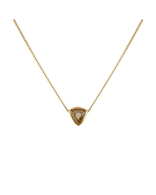 Lee Renee - Metallic Smoky Quartz Trillion Cut Necklace - Lyst