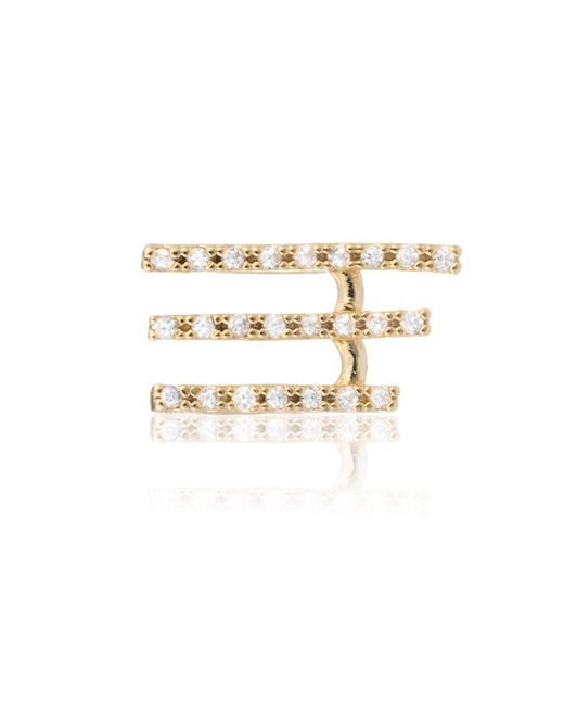 Astrid & Miyu | Metallic Crystal Armour Ear Cuff Gold | Lyst