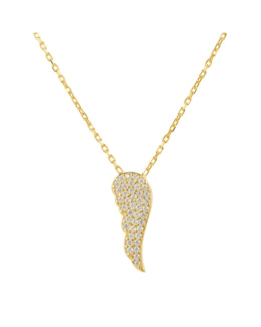 Latelita London | Metallic Small Angel Wing Necklace Gold | Lyst