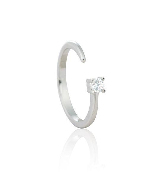 Astrid & Miyu - Metallic Chase Me Diamante Ring In Silver - Lyst