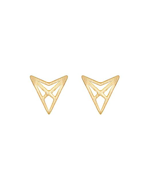 Dutch Basics - Metallic Hef Studs Gold - Lyst