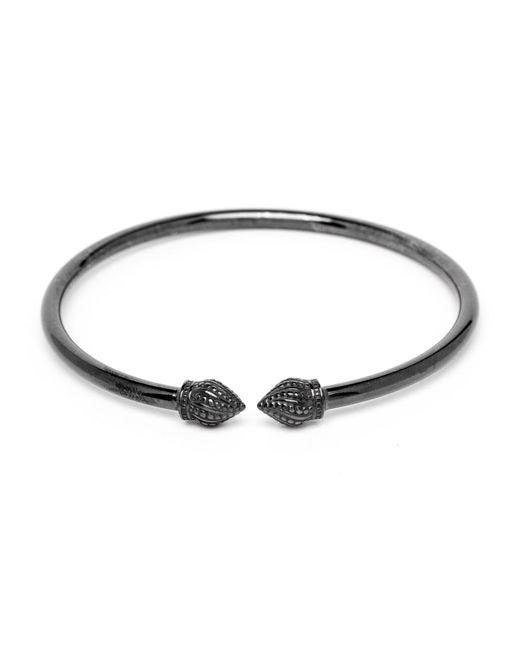 Durrah Jewelry - Black Graphite Cylinder Bangle - Lyst