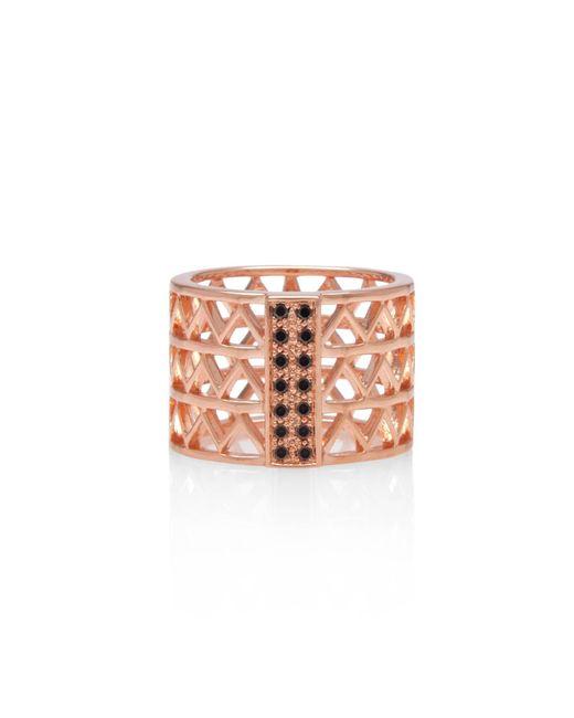 Alexandra Alberta - Pink Guggenheim Black Diamond Ring - Lyst