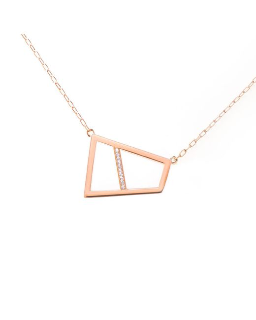 Ona Chan Jewelry | Metallic Double Lattice Necklace With Sapphire Rose Gold | Lyst