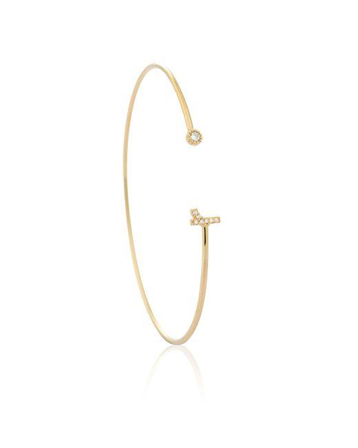 Astrid & Miyu | Metallic Gold Initial R Bangle | Lyst