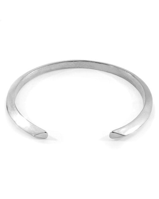 Anchor & Crew - Metallic Benson Triagonal Maxi Silver Bangle for Men - Lyst