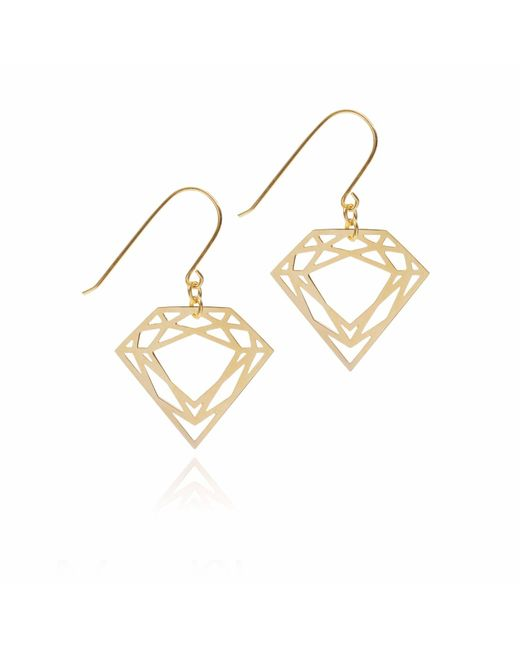 Myia Bonner | Metallic Gold Classic Diamond Earrings | Lyst