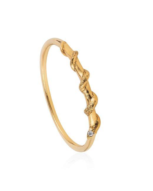 Lee Renee   Metallic Tiny Snake Ring Diamonds & Gold Vermeil   Lyst