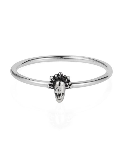 Lee Renee | Metallic Tiny Voodoo Legba Ring Silver | Lyst