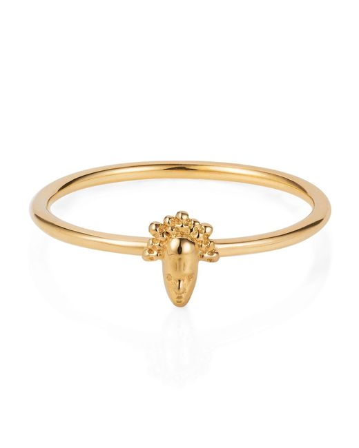 Lee Renee | Metallic Tiny Voodoo Legba Ring Gold Vermeil | Lyst