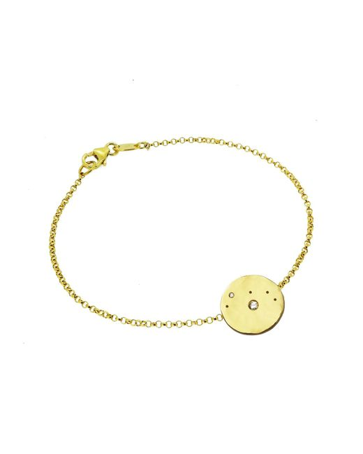 Yvonne Henderson Jewellery - Metallic Aries Constellation Bracelet With White Sapphires Gold - Lyst