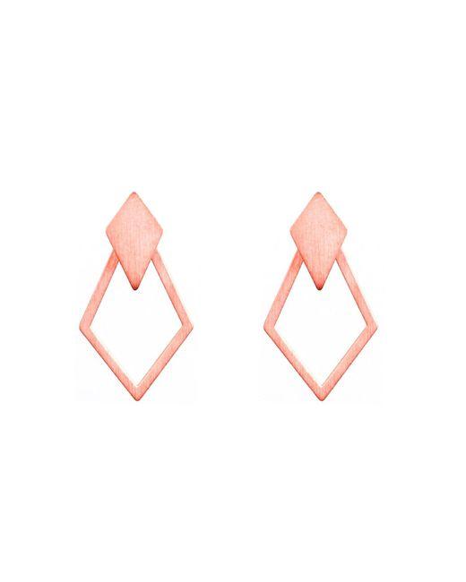 Dutch Basics | Multicolor Ruit Detachable Drop Earrings Rose Gold | Lyst