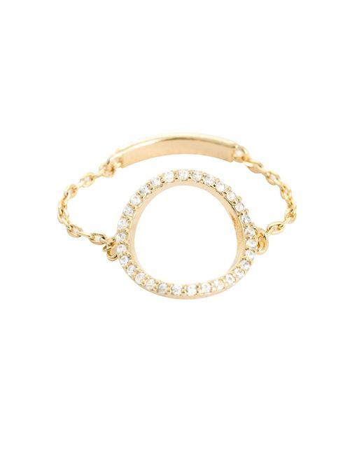 Astrid & Miyu | Metallic Tuxedo Circle Chain Ring Gold | Lyst