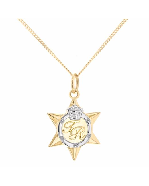 True Rocks | Metallic Mini Two Tone Star Medal Gold & Silver | Lyst