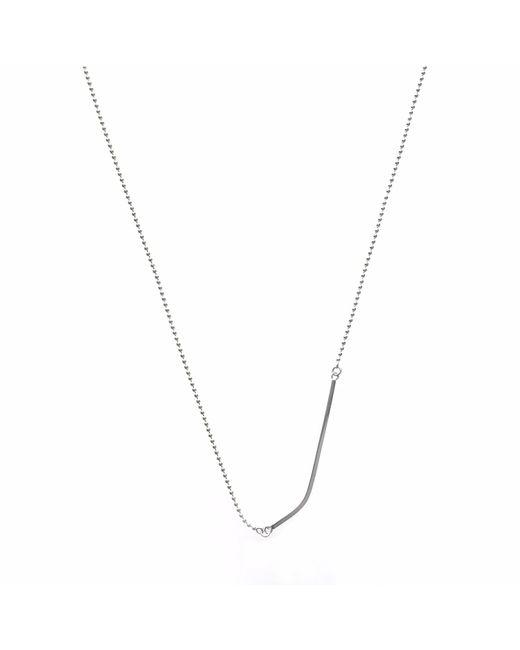 Brash Bijoux   Metallic Curved Square Bar Necklace   Lyst