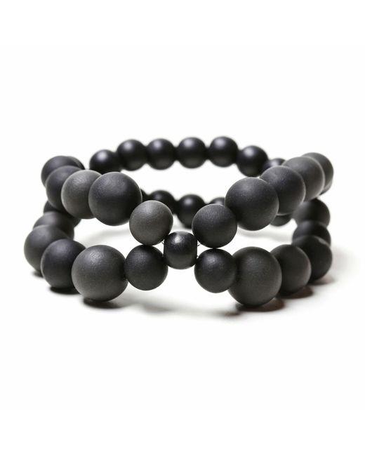 Hring Eftir Hring | Black Pirouette Bracelet Coal | Lyst
