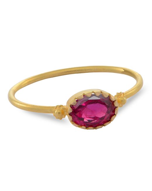 Emma Chapman Jewels - Grecian Gold Red Spinel Ring - Lyst