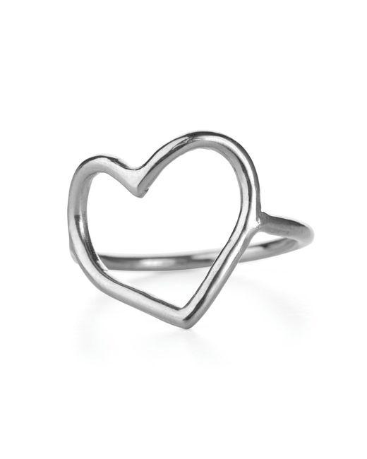 Chupi | Metallic My Heart Is Open Ring In Silver | Lyst