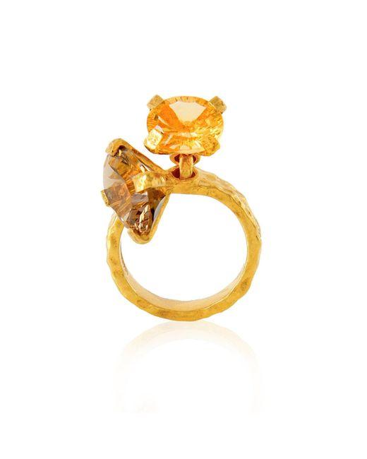 Alexandra Alberta | Metallic Belle Quartz Ring | Lyst