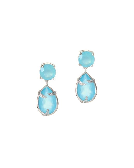 Alexandra Alberta - Runyon Blue Chalcedony Earrings - Lyst