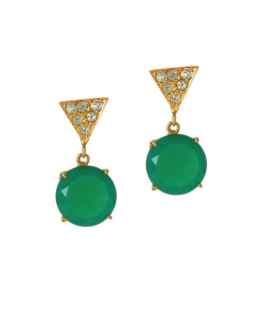 Alexandra Alberta | Green Twiggy Chalcedony Earrings | Lyst