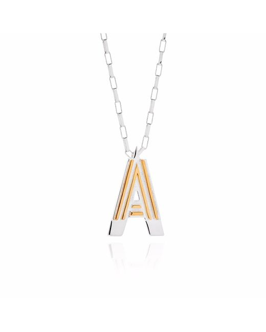 Yasmin Everley Jewellery   Metallic Saxony A Initial Necklace   Lyst