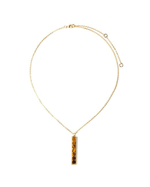 Ona Chan Jewelry | Metallic Rectangle Pendant With Round Tiger's Eye | Lyst