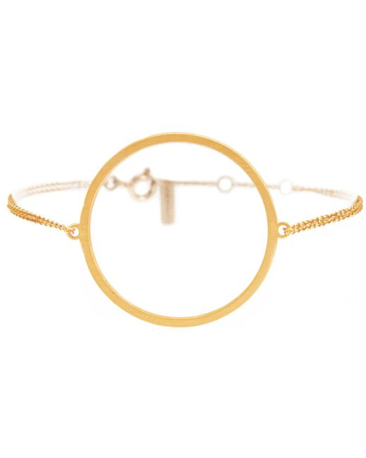 Dutch Basics - Metallic Circle Bracelet Gold - Lyst