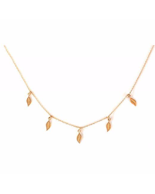 Sadekar Jewellery | Metallic Five Leaves Necklace | Lyst