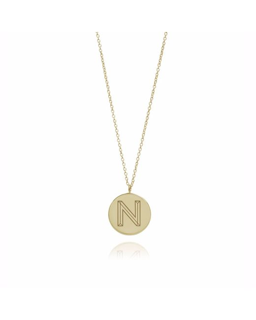 Myia Bonner | Metallic Gold N Facett Initial Necklace | Lyst