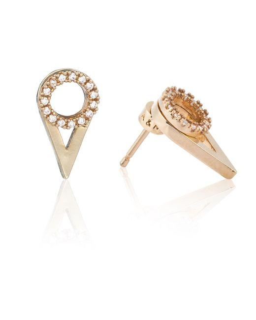 Astrid & Miyu   Metallic Circle Ear Jacket In Gold   Lyst