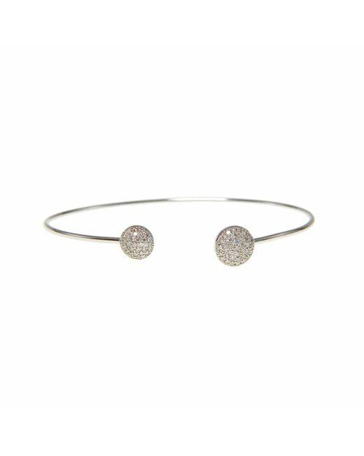 Ri Noor - Metallic Diamond Disc Bangle - Lyst