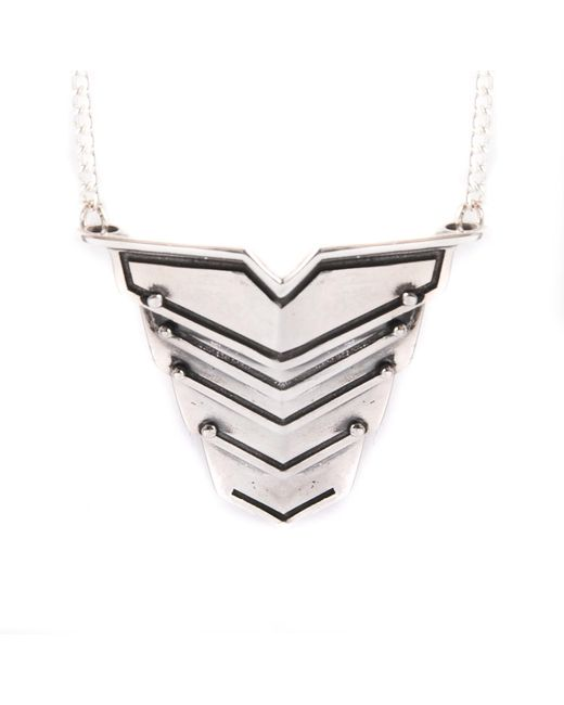 Lee Renee | Metallic Romeo Necklace Silver for Men | Lyst