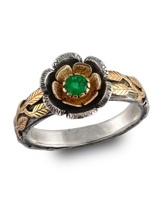 Emma Chapman Jewels | Green Buttercup Gold Emerald Ring | Lyst