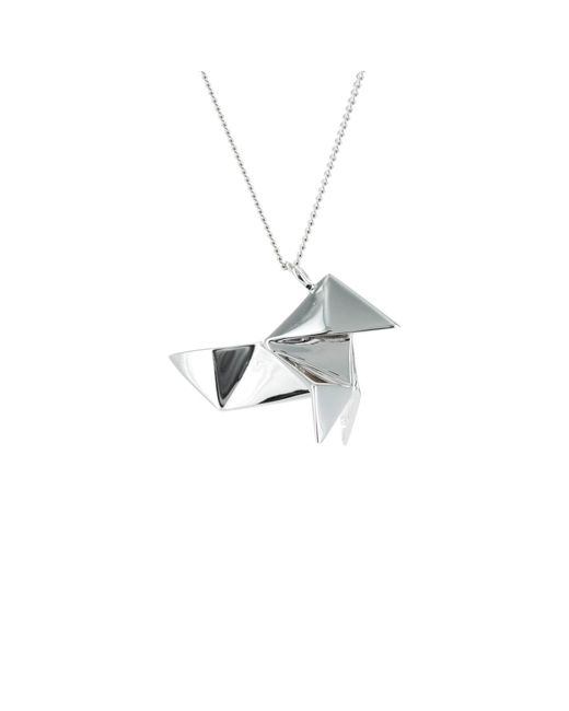 Origami Jewellery - Metallic Cuckoo Necklace Sterling Silver - Lyst