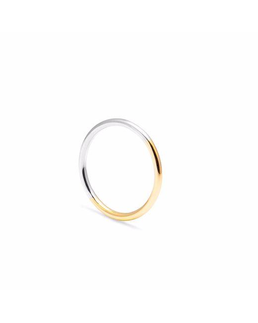 Myia Bonner - Metallic 9ct Yellow Gold & Silver Round Stacking Ring - Lyst