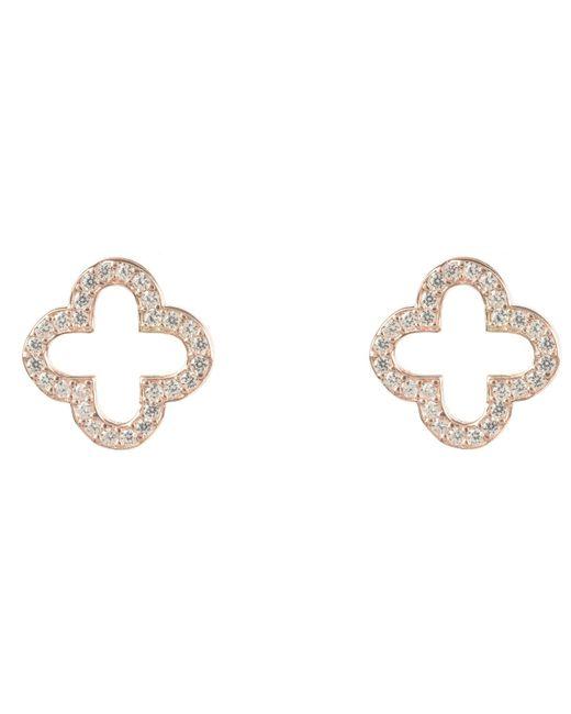 Latelita - Multicolor Rosegold Open Clover Earring - Lyst
