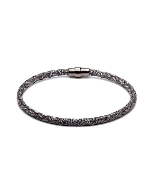 Durrah Jewelry - Black Graphite Woven Bracelet For Her - Lyst
