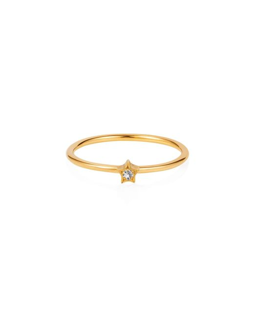 Lee Renee | Metallic Tiny Star Ring White Sapphire & Gold | Lyst