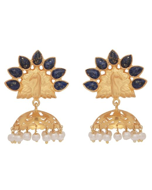 Carousel Jewels - Multicolor Lapis Peacock Chandelier Earrings - Lyst