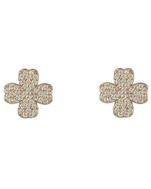 Latelita London   Metallic Lucky Four Leaf Clover Earring Rose Gold   Lyst