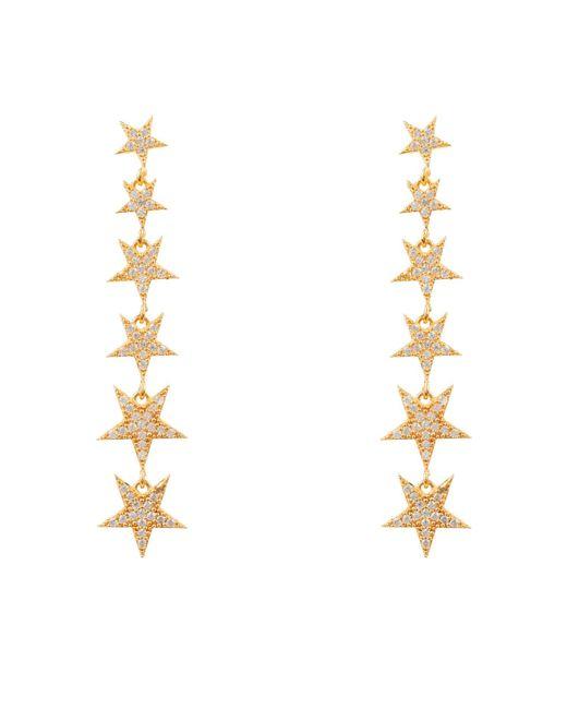 Latelita London - Metallic Graduated Star Drop Earring Gold - Lyst