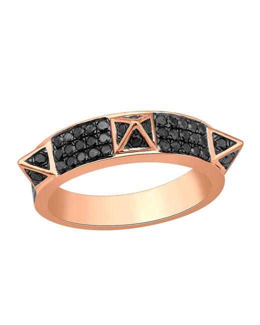 Artisan - Metallic 18k Gold Spike Ring With Black Pave Diamond - Lyst