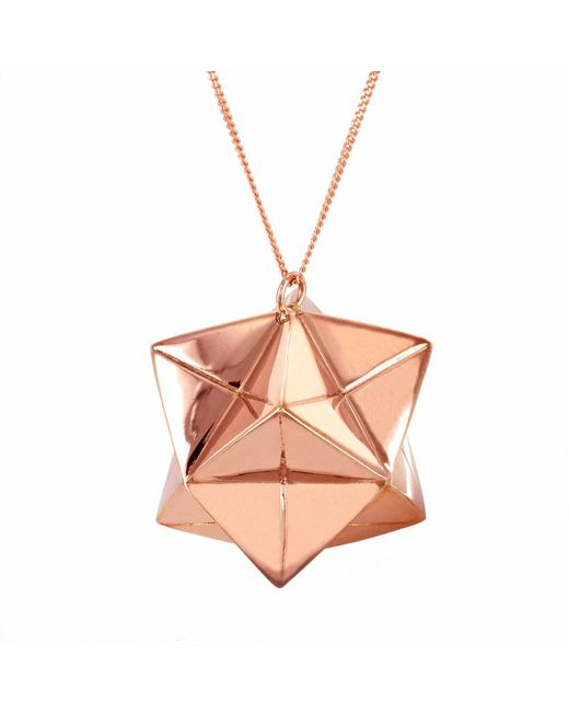 lyst origami jewellery large magic ball necklace rose