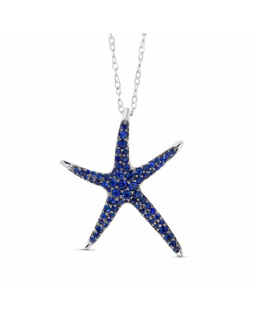 Cosanuova | Metallic Star Fish Sapphire Necklace 18k White Gold | Lyst